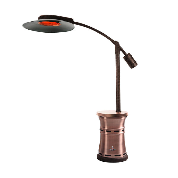 LHI-162 Patio Heater - Brushed Copper - Natural Gas - The Backyard Bartender