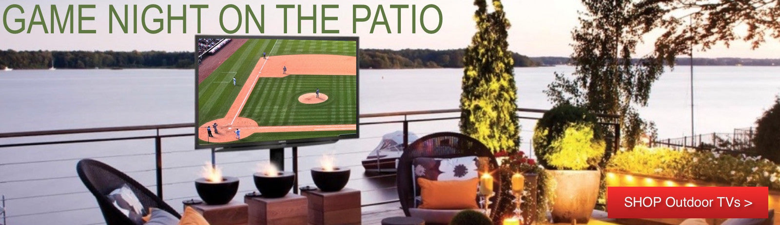 Outdoor TV - The Backyard Bartender