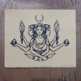 Hecate screen print