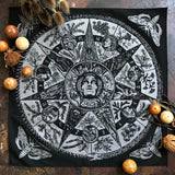 Wheel of Samhain bandana in graphite silver