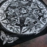 Wheel of Samhain bandana in silver