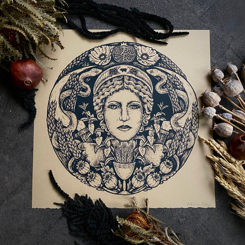 Demeter screen print