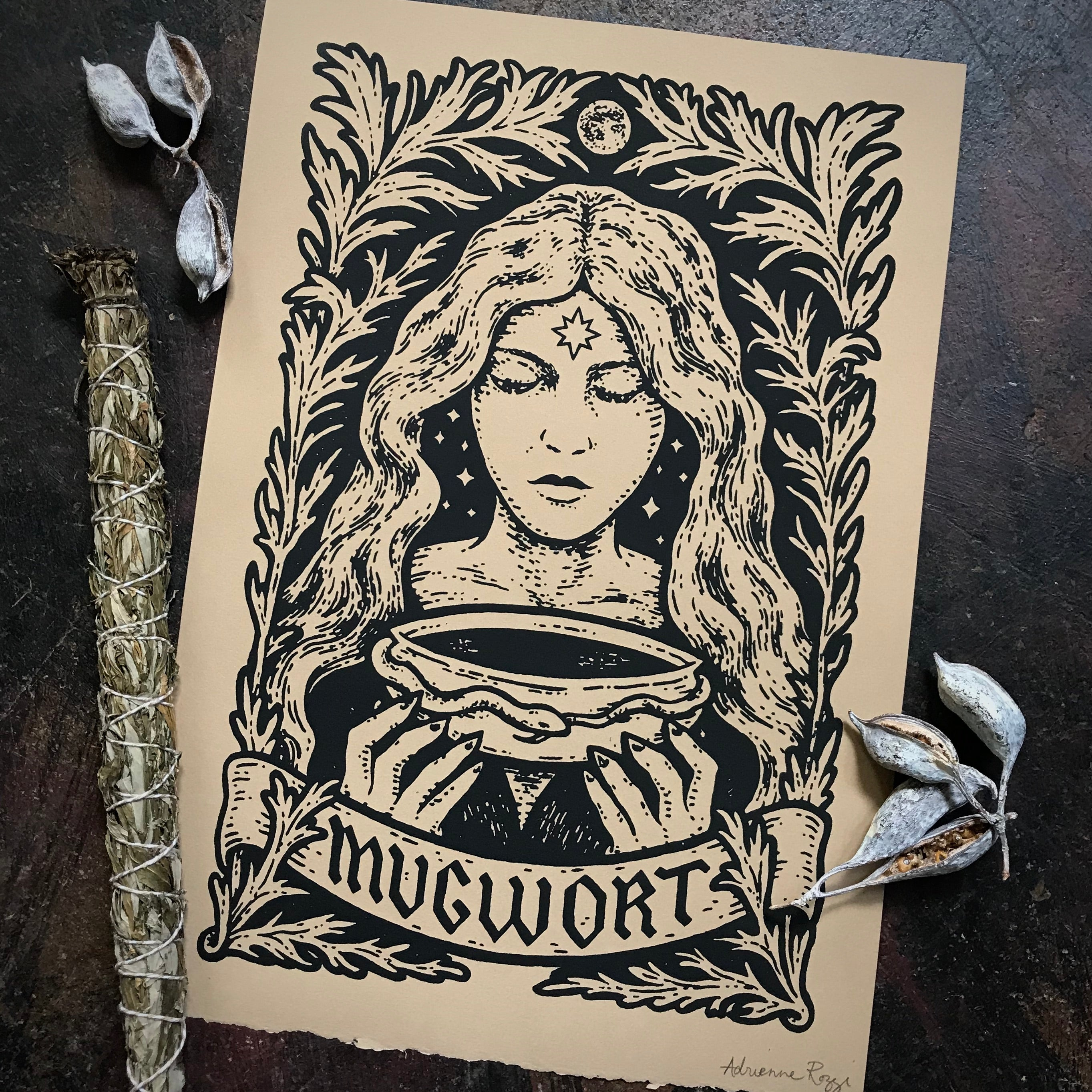Mugwort screen print