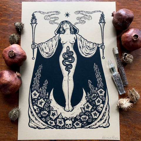 Hecate's Garden screen print