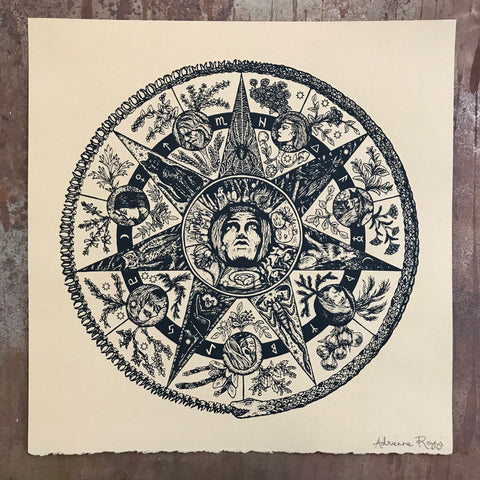 Samhain's Magic Circle screen print