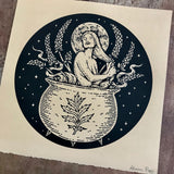 Midnight Soak screen print
