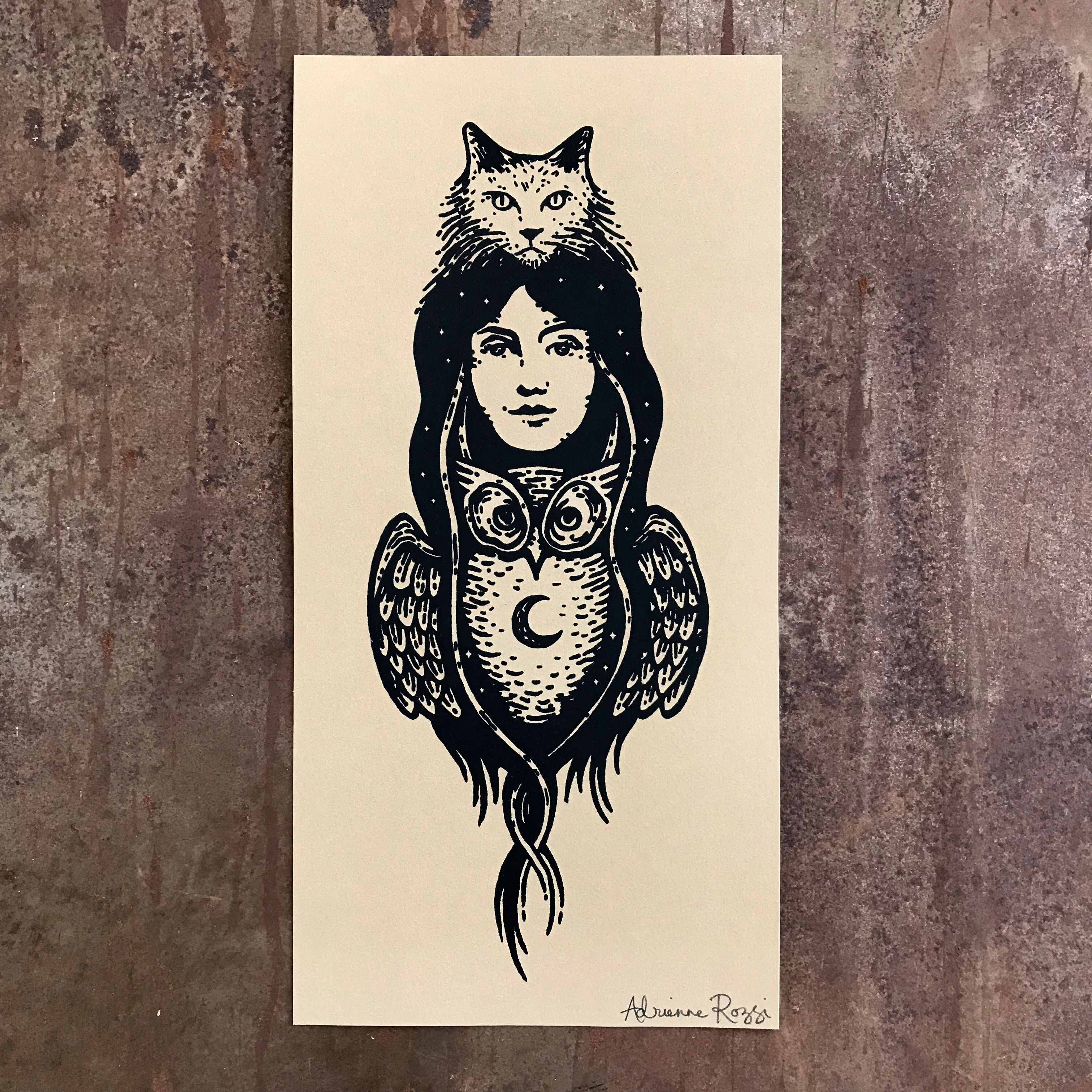 Nocturna screen print