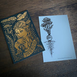 Yarrow metallic postcard