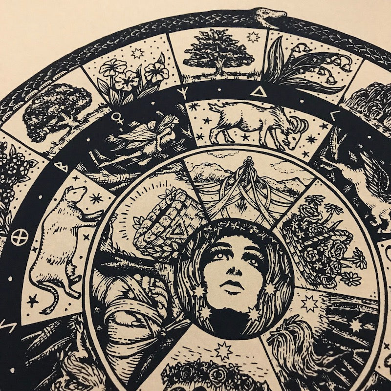 The Wheel of Beltane screen print