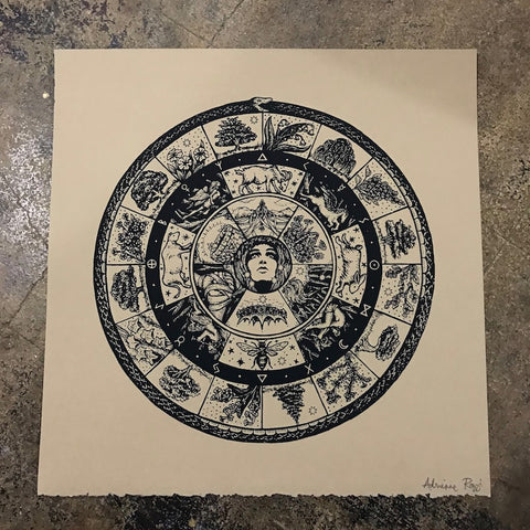 Mayday's Magic Circle screen print