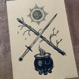 Tarot Suits screen print