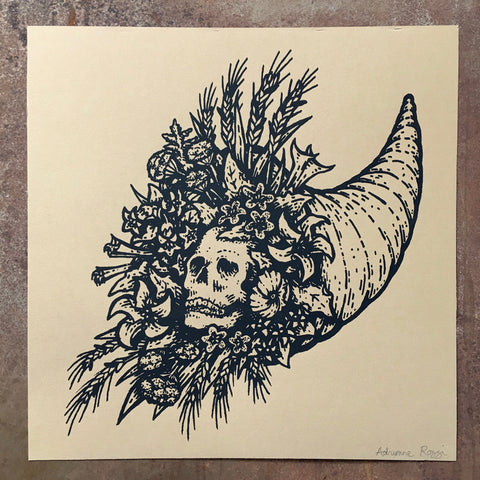 Venecopeia screen print