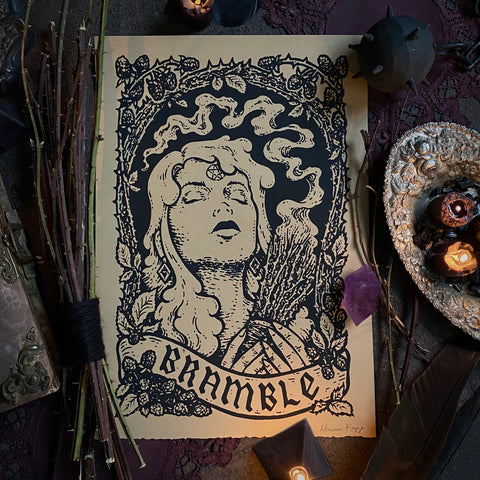 Bramble screen print