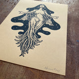 Mandragora screen print