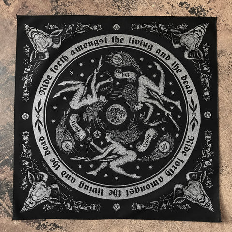 Night Ride bandana in graphite silver