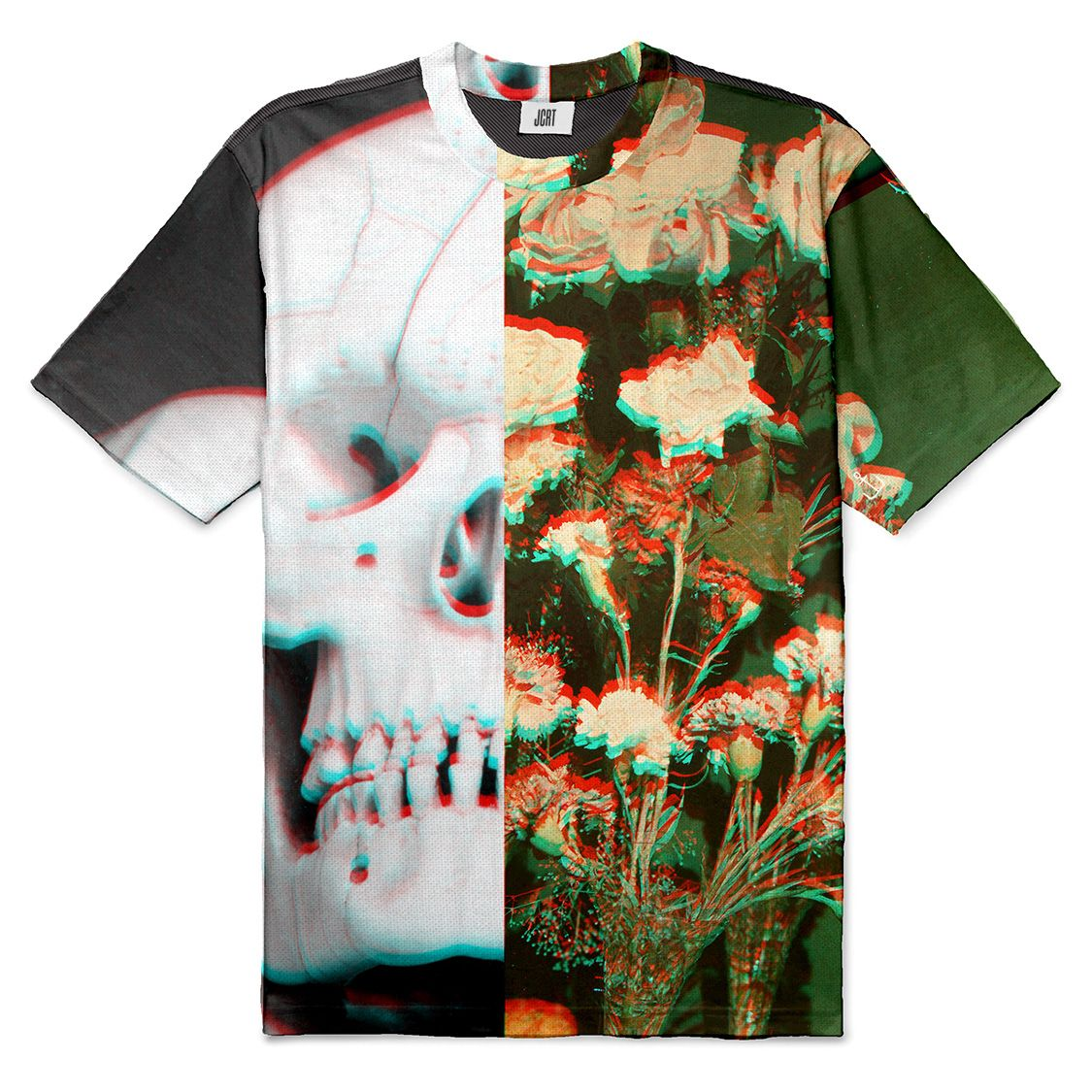 The Still Life with Flowers and Skull Collage T-Shirt