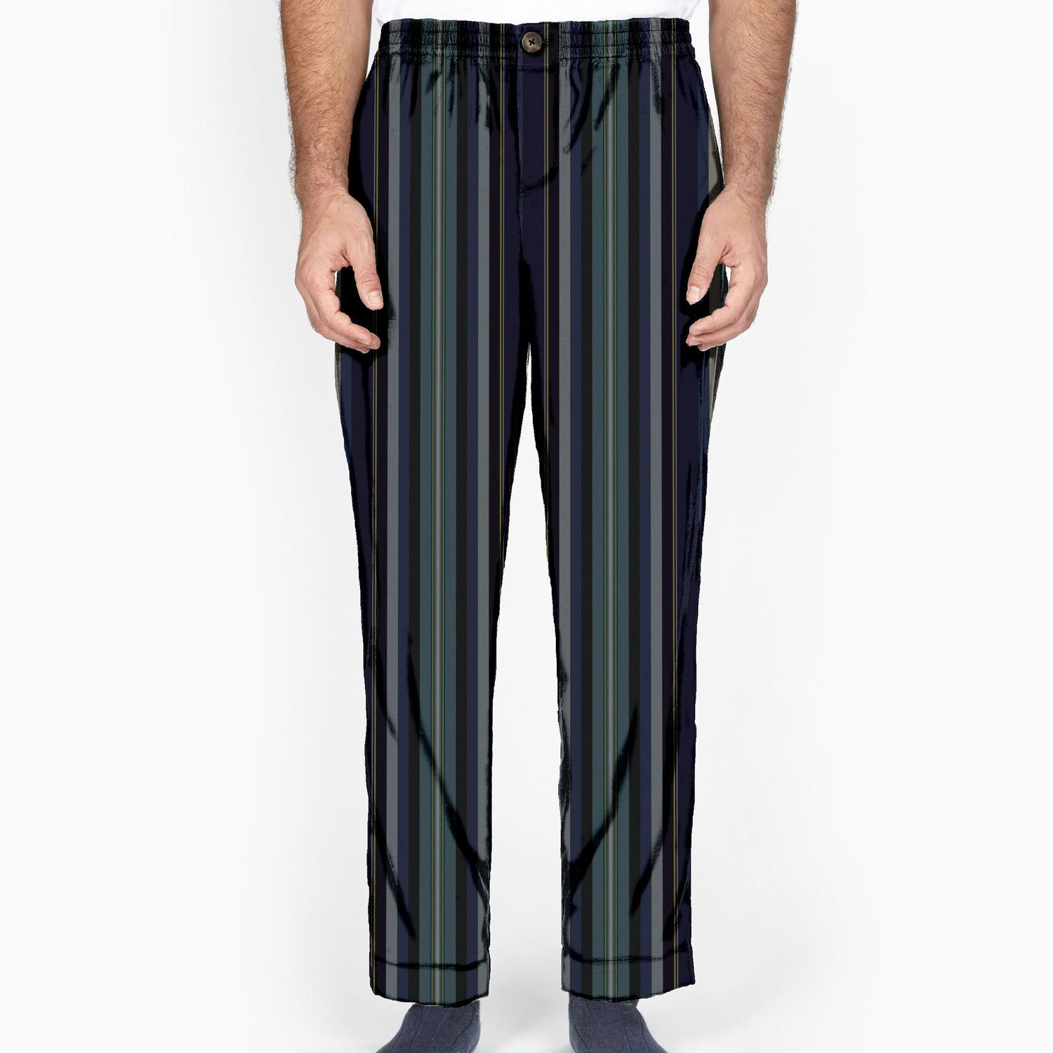 The Edward Scissorhands Stripe Flannel Lounge Pant
