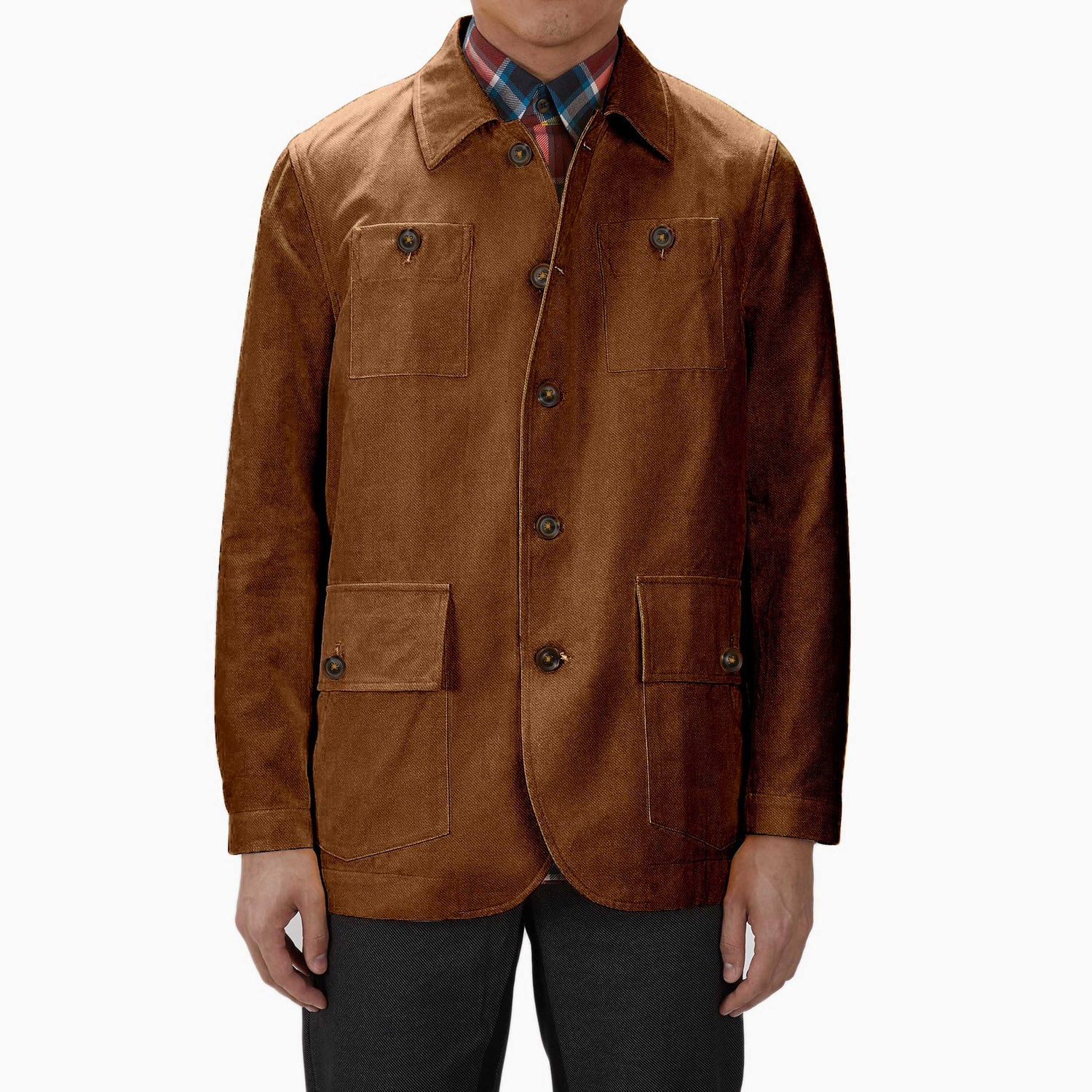 The Leather and Tweed Twill Country Jacket