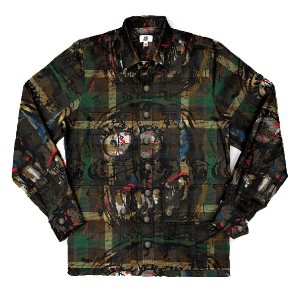 Scooter Camo Guy Plaid Driving Jacket