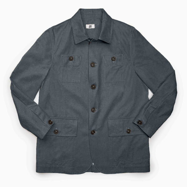 The New England Gray Twill Country Jacket