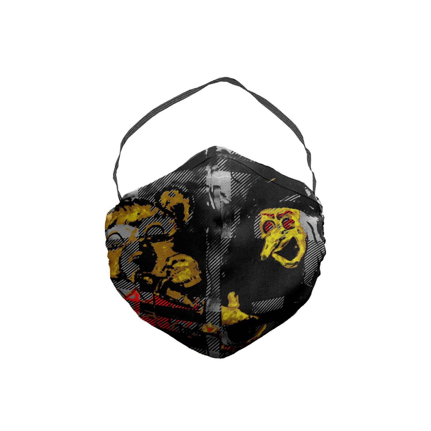 The Scooter Bear Witch Plaid Face Mask 5 Pack
