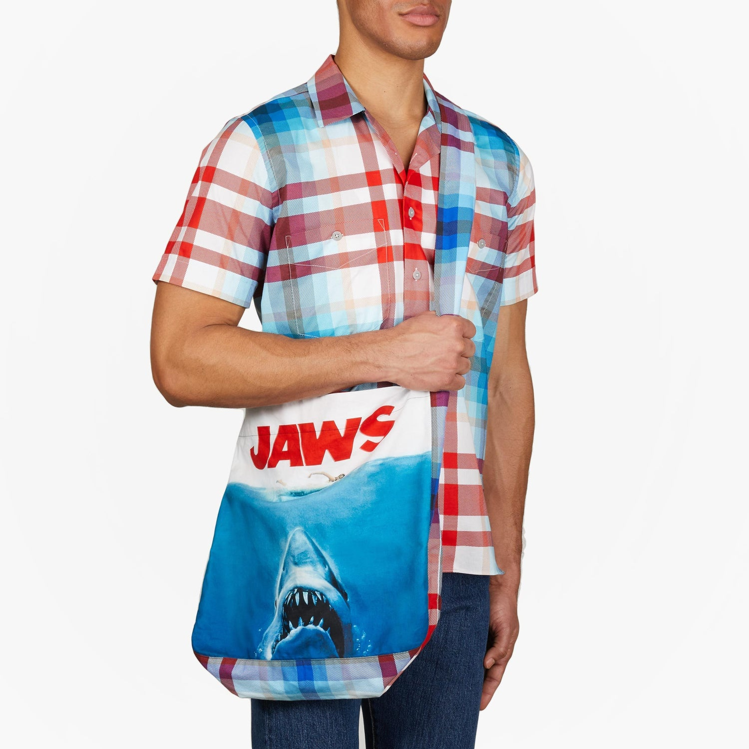 The Jaws Plaid Shoulder Bag