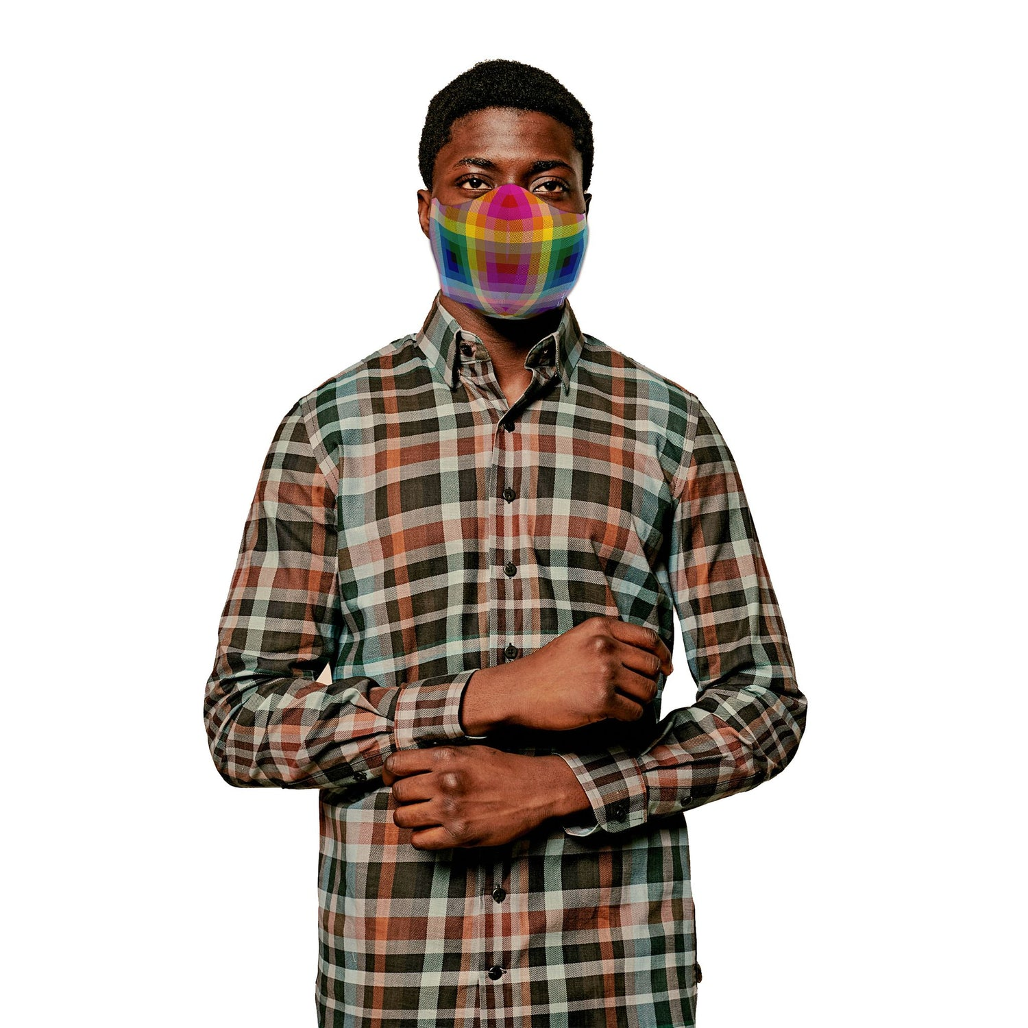 The 2020 Pride Plaid Face Mask