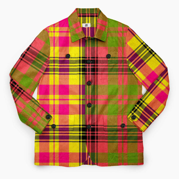 The Never Mind The Bollocks Mixed Plaid Chore Coat