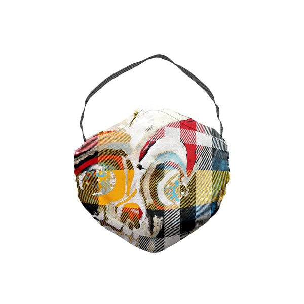 The Scooter Skeleton Boy Plaid Face Mask 5 Pack