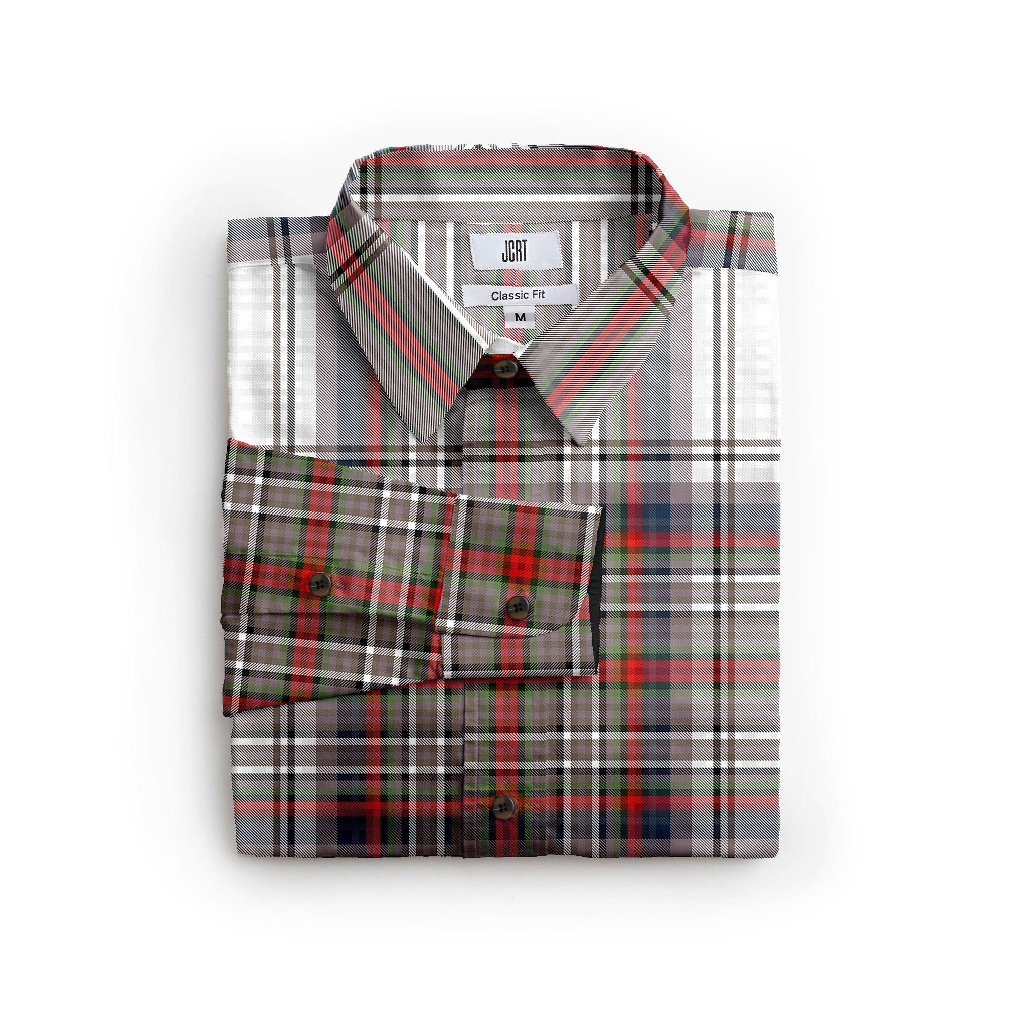 The Behaviour Plaid Long Sleeve Shirt