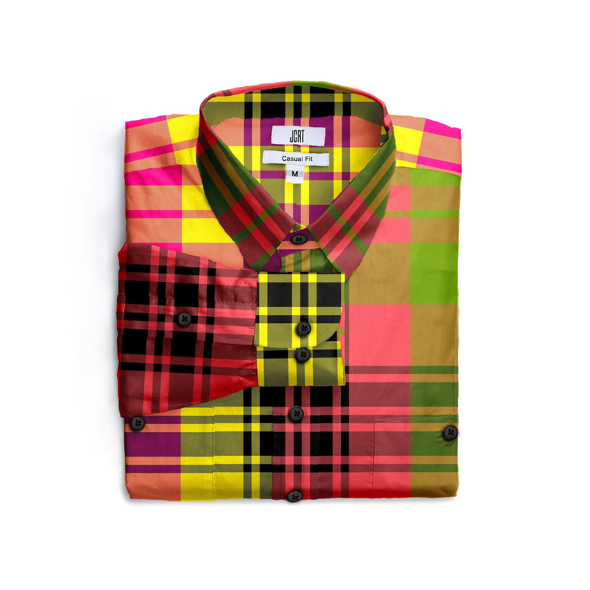 The Never Mind The Bollocks Mixed Plaid Long Sleeve Shirt
