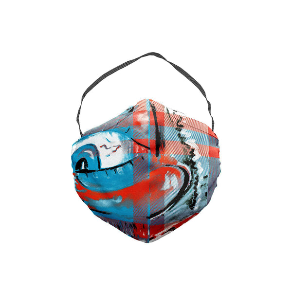 The Scooter Red Nosed Plaid Face Mask 5 Pack