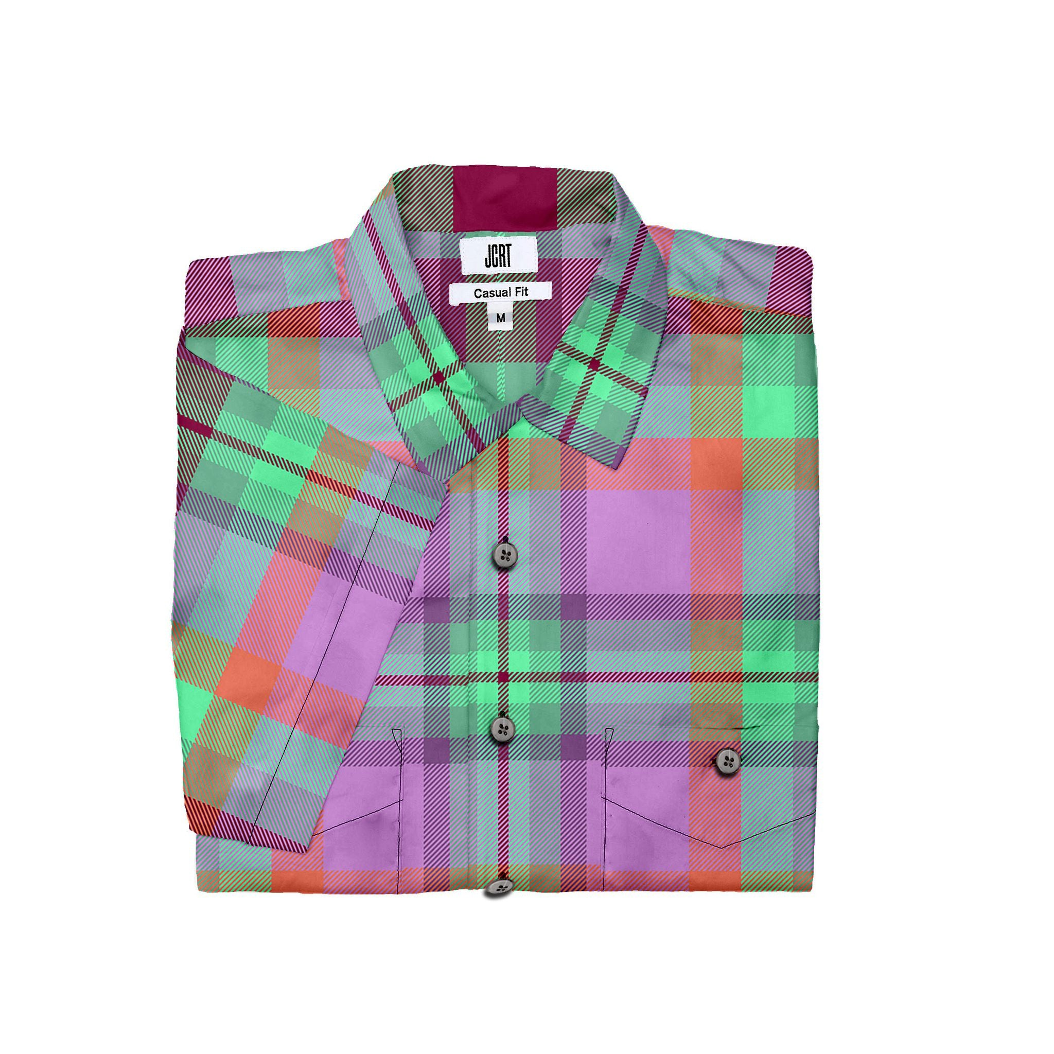 The JCRT Stubbs & Wootton Pink Plaid Short Sleeve Shirt