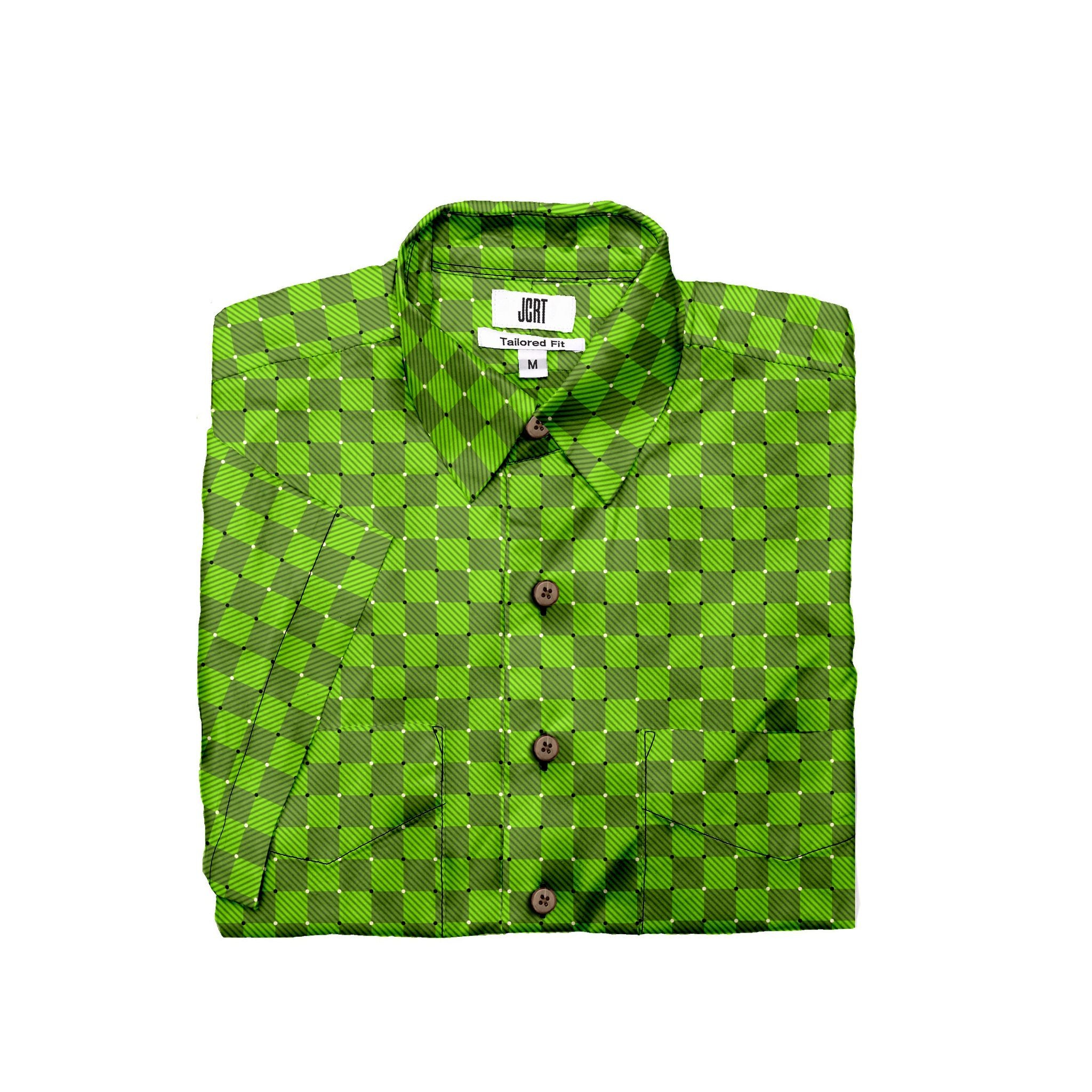 The Groovy Green Check Short Sleeve Shirt