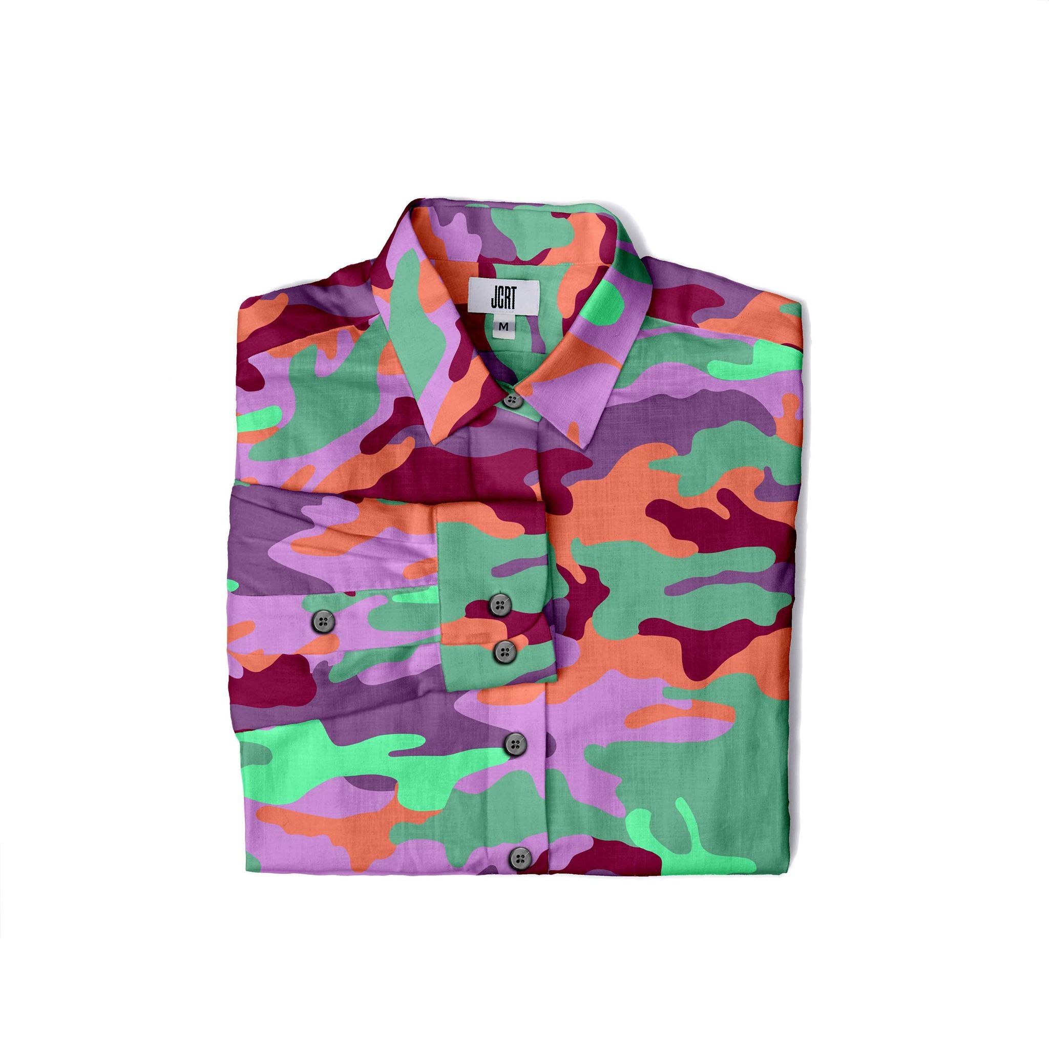The JCRT Stubbs & Wootton Purple Camo Women's Shirt