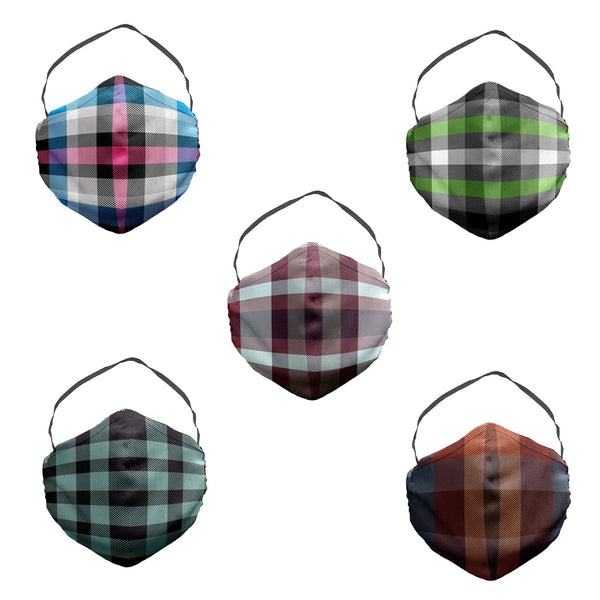 The Smiths Debut Plaid Face Mask 5 Pack