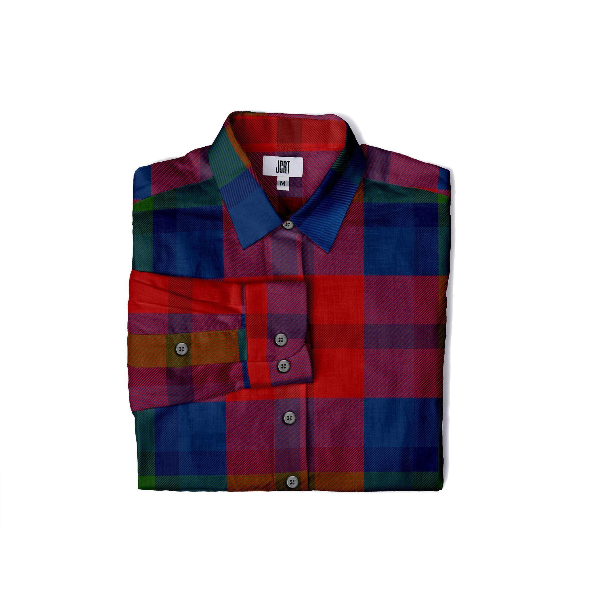 The JCRT Stubbs & Wootton Velvet Plaid Women's Shirt