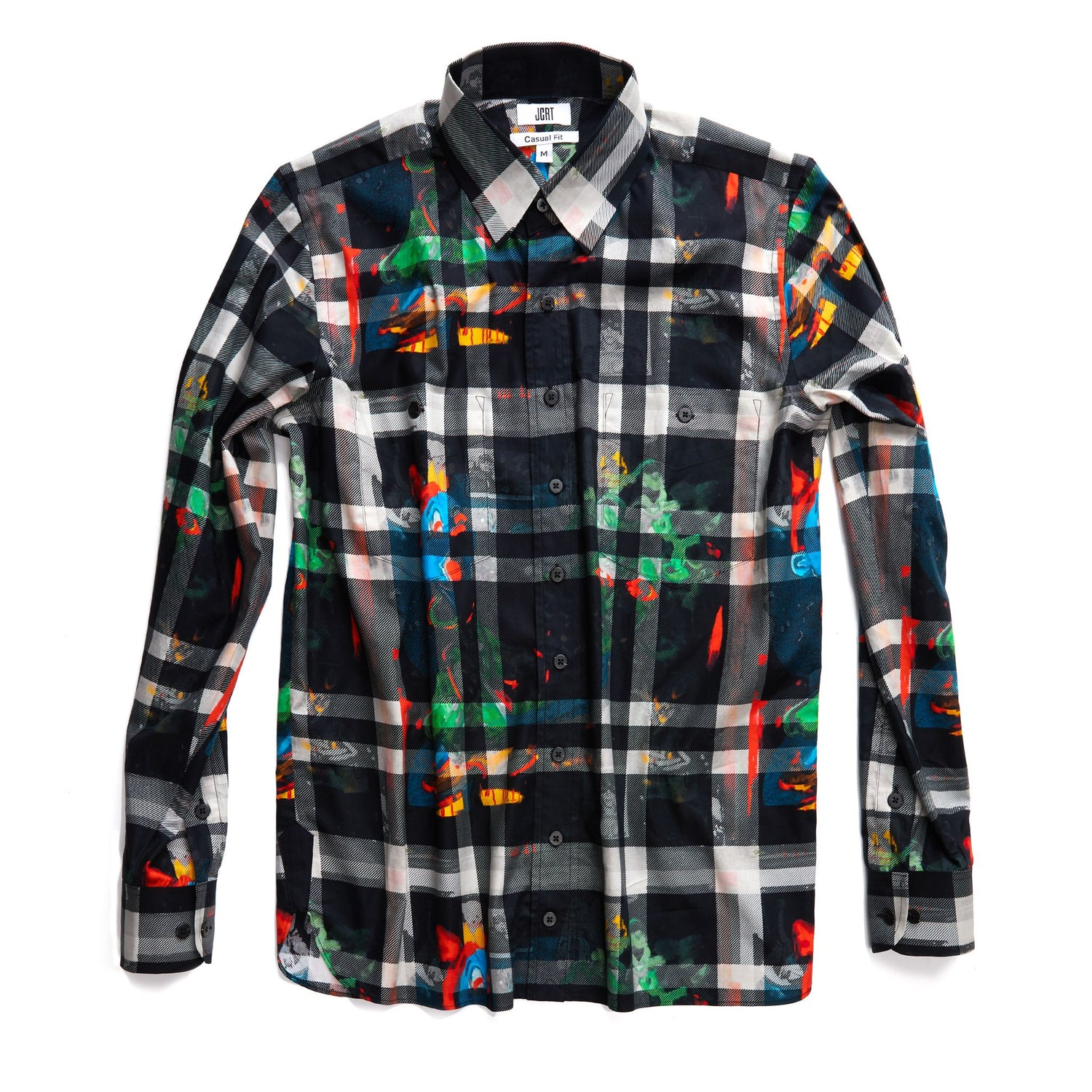 The Scooter Blue Smurf Plaid Long Sleeve Shirt
