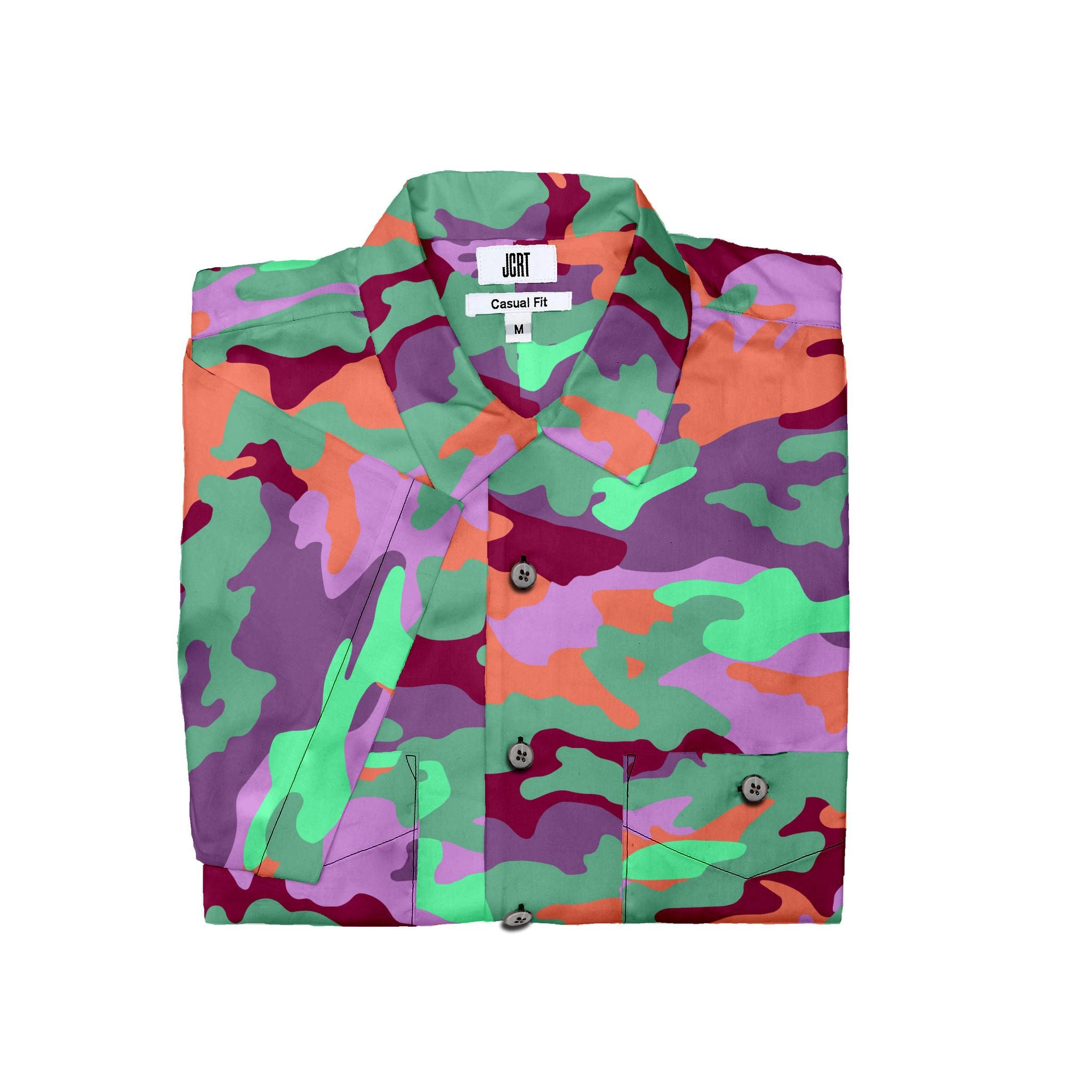 The JCRT Stubbs & Wootton Purple Camo Short Sleeve Shirt