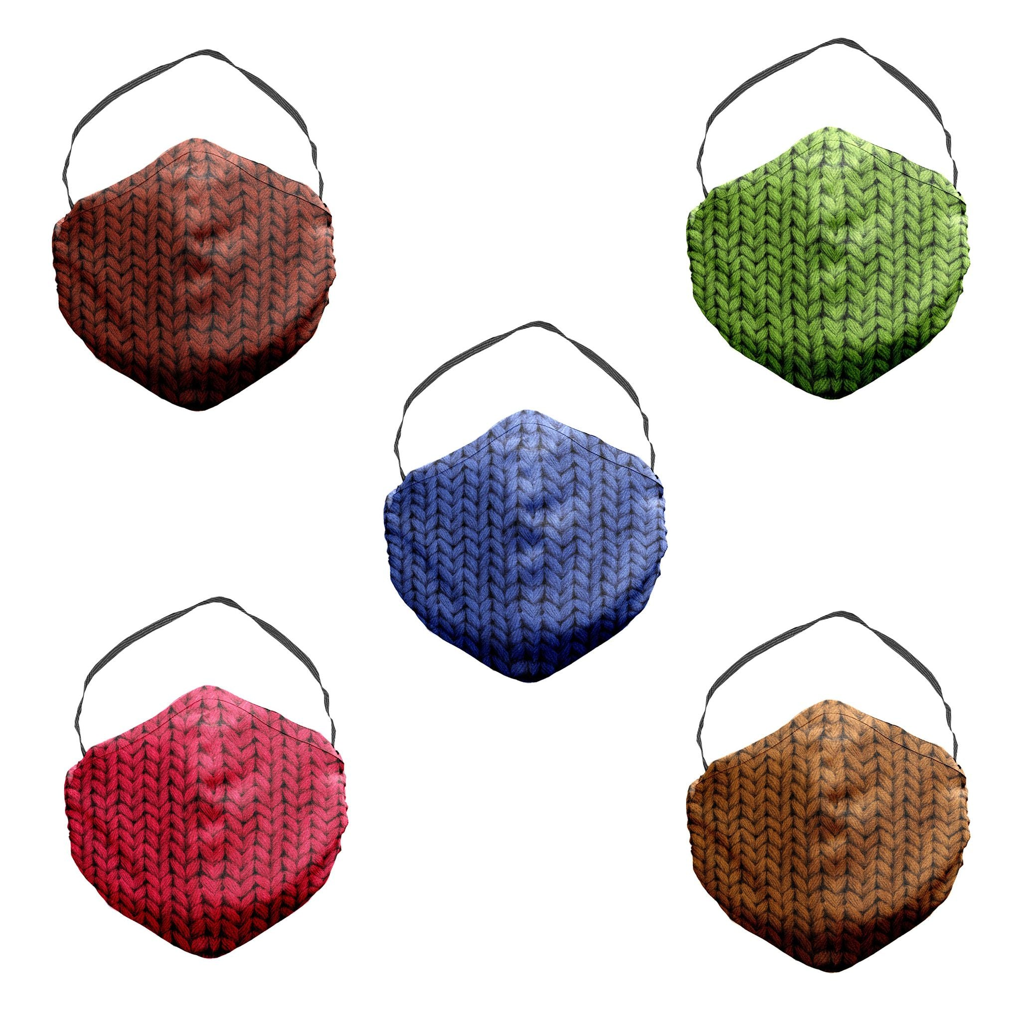 Knit Face Mask Variety 5 Pack