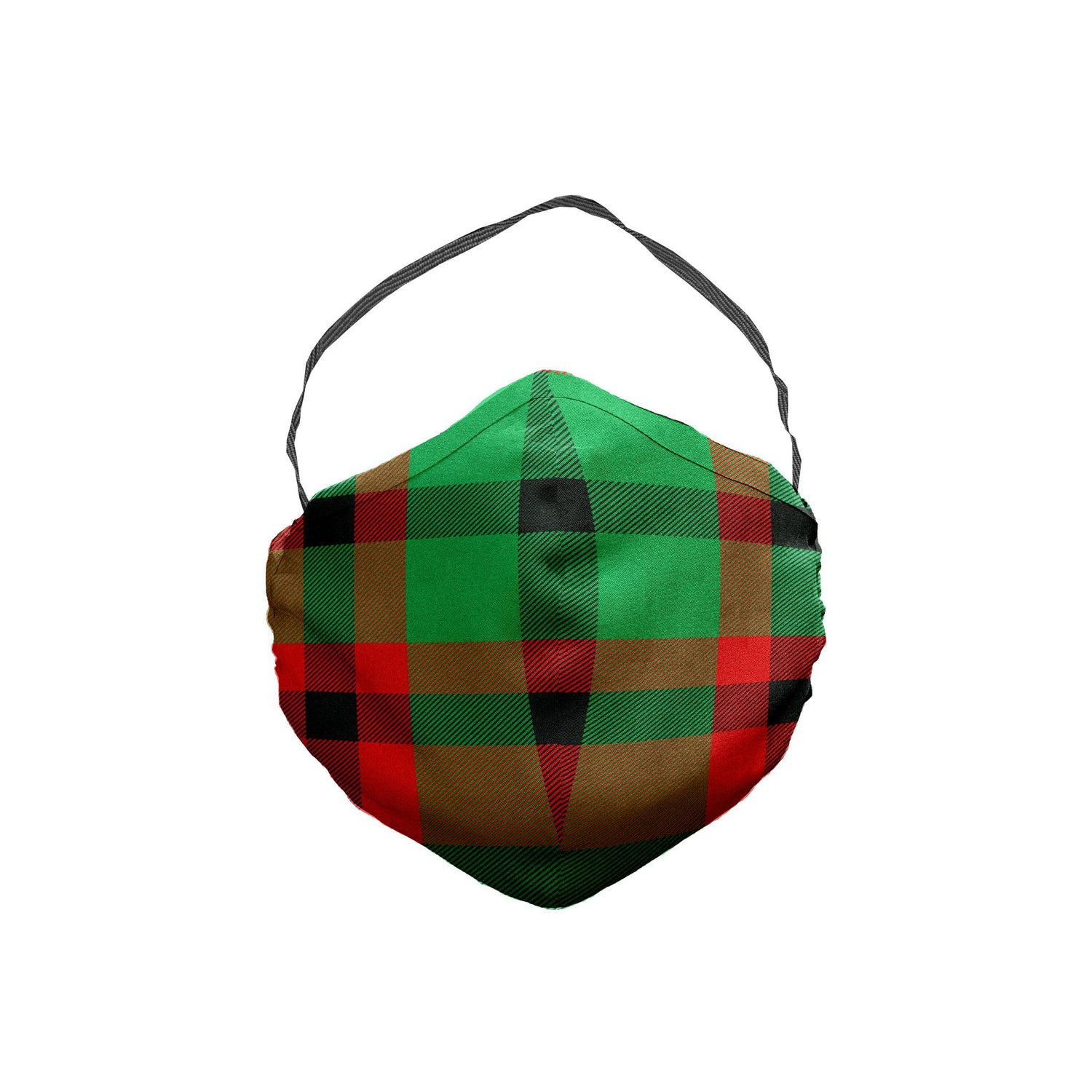 The Red, Black and Green Plaid Face Mask 5 Pack