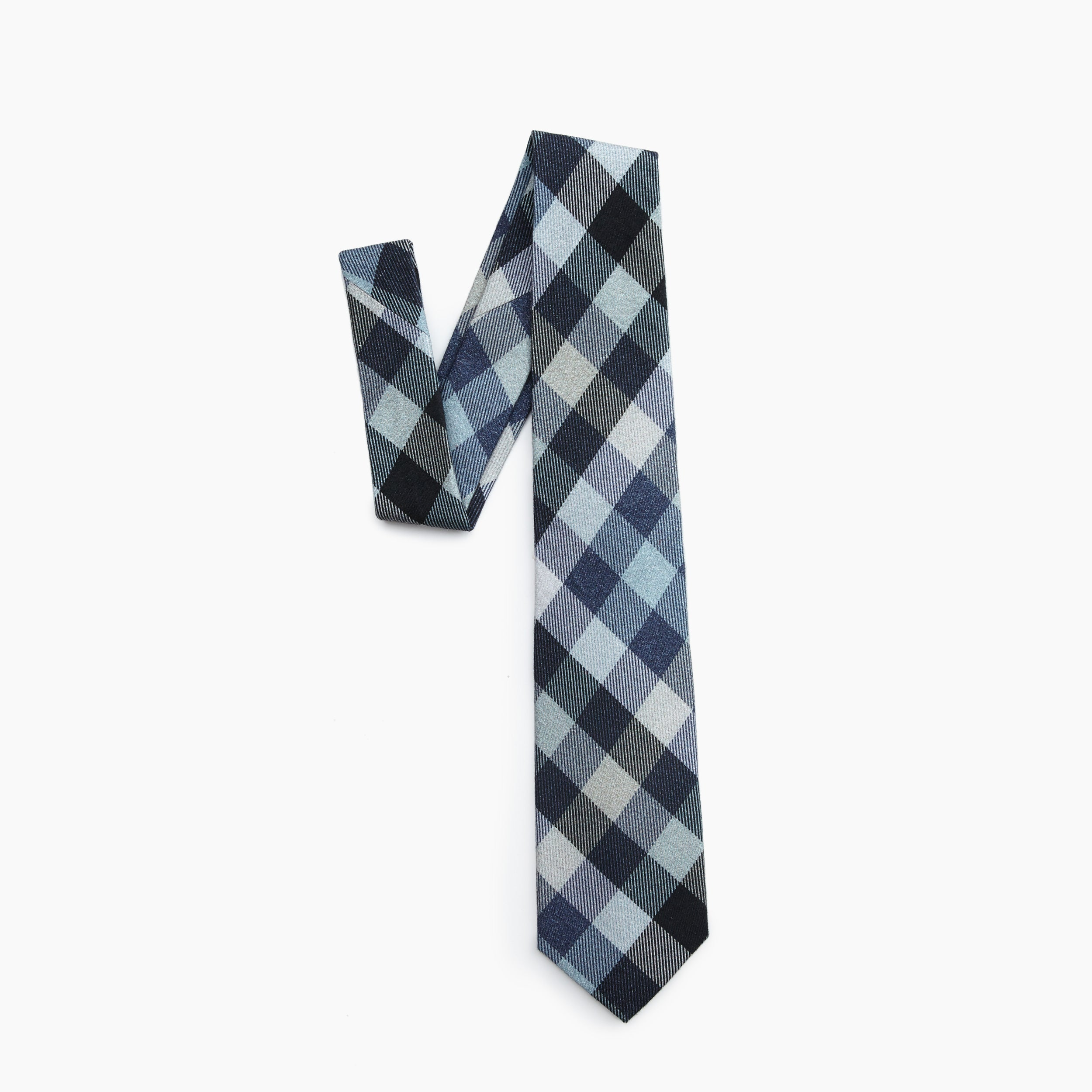 Self Tipped Tie | The Navy Working Uniform Plaid