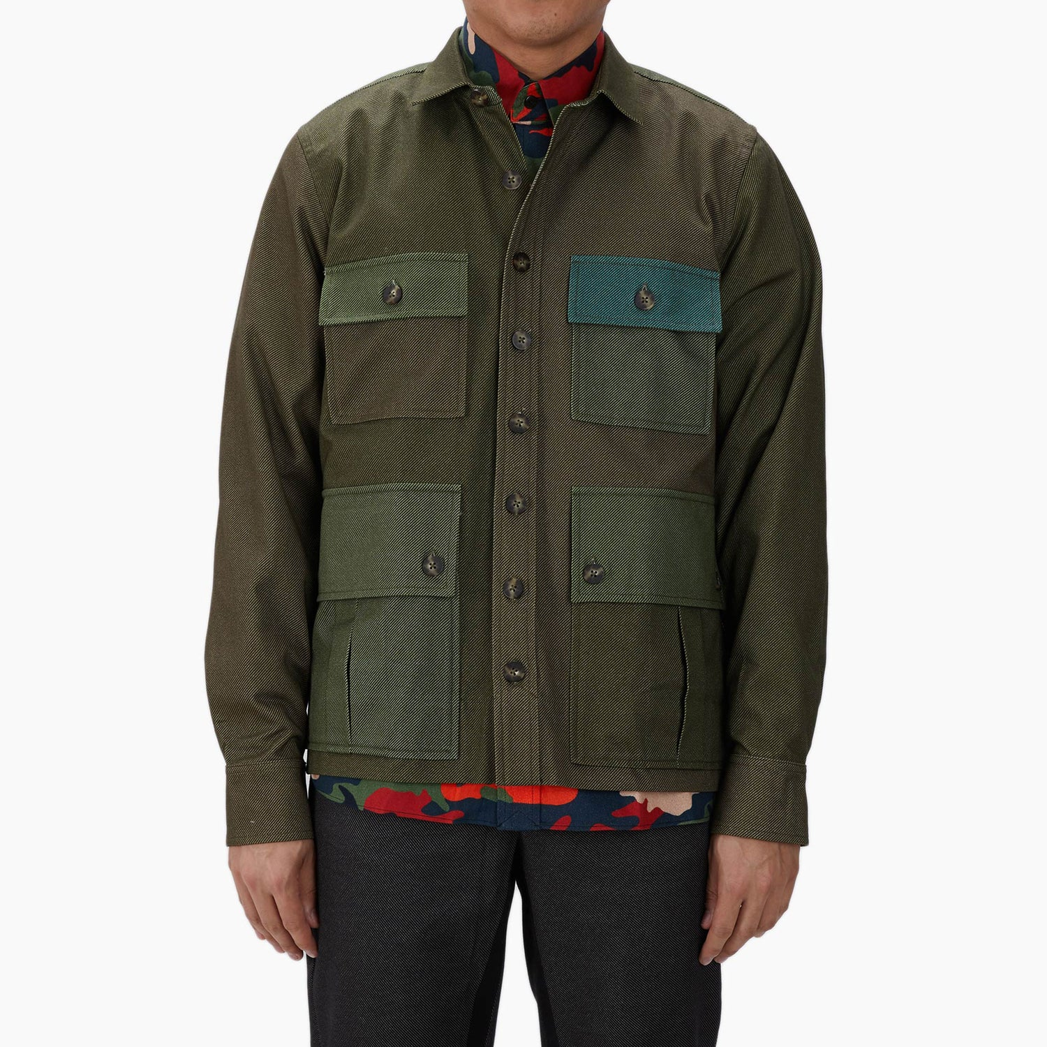 The Green Mixed Twill Driving Jacket