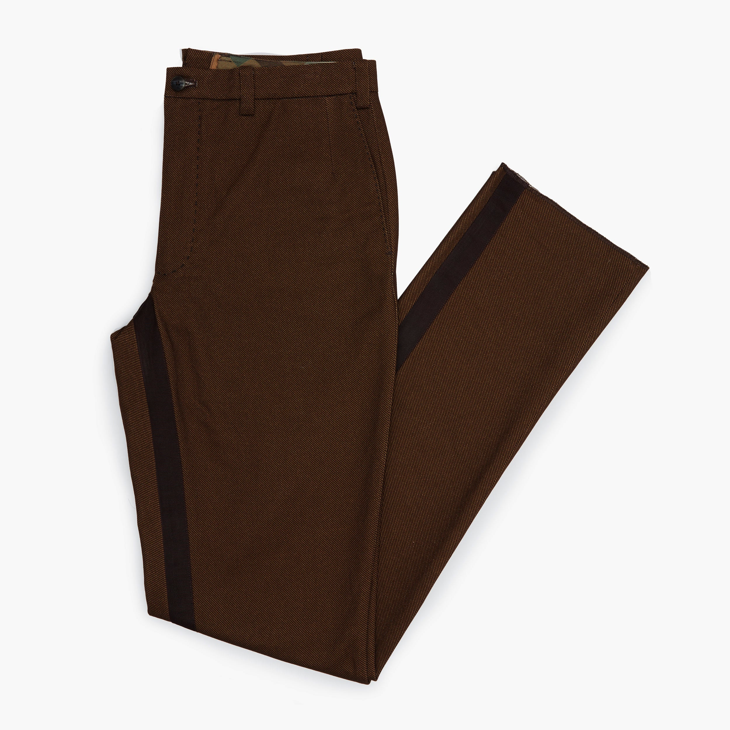 The Brown Tweed Twill Trouser