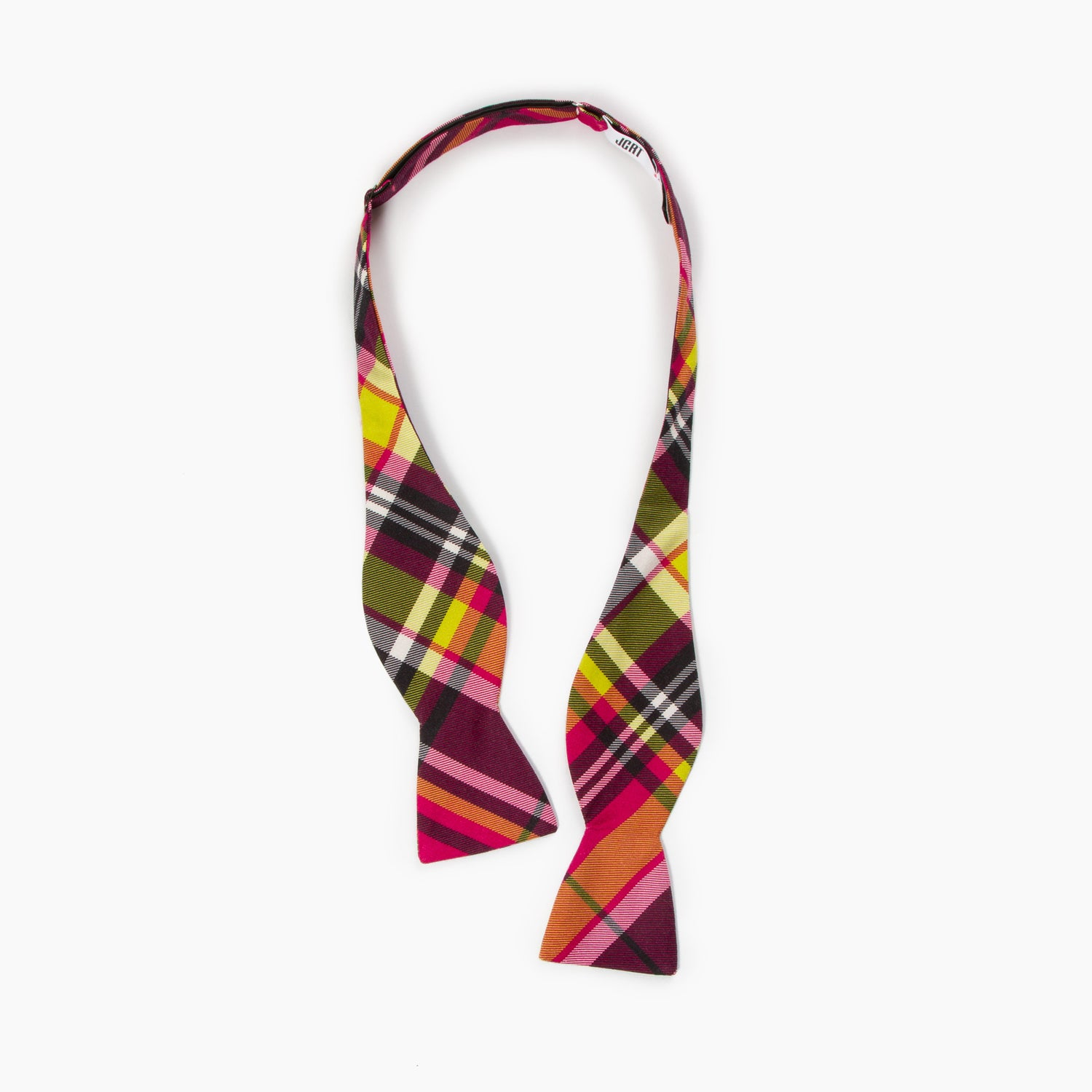 The Earth AD Plaid Butterfly Bowtie