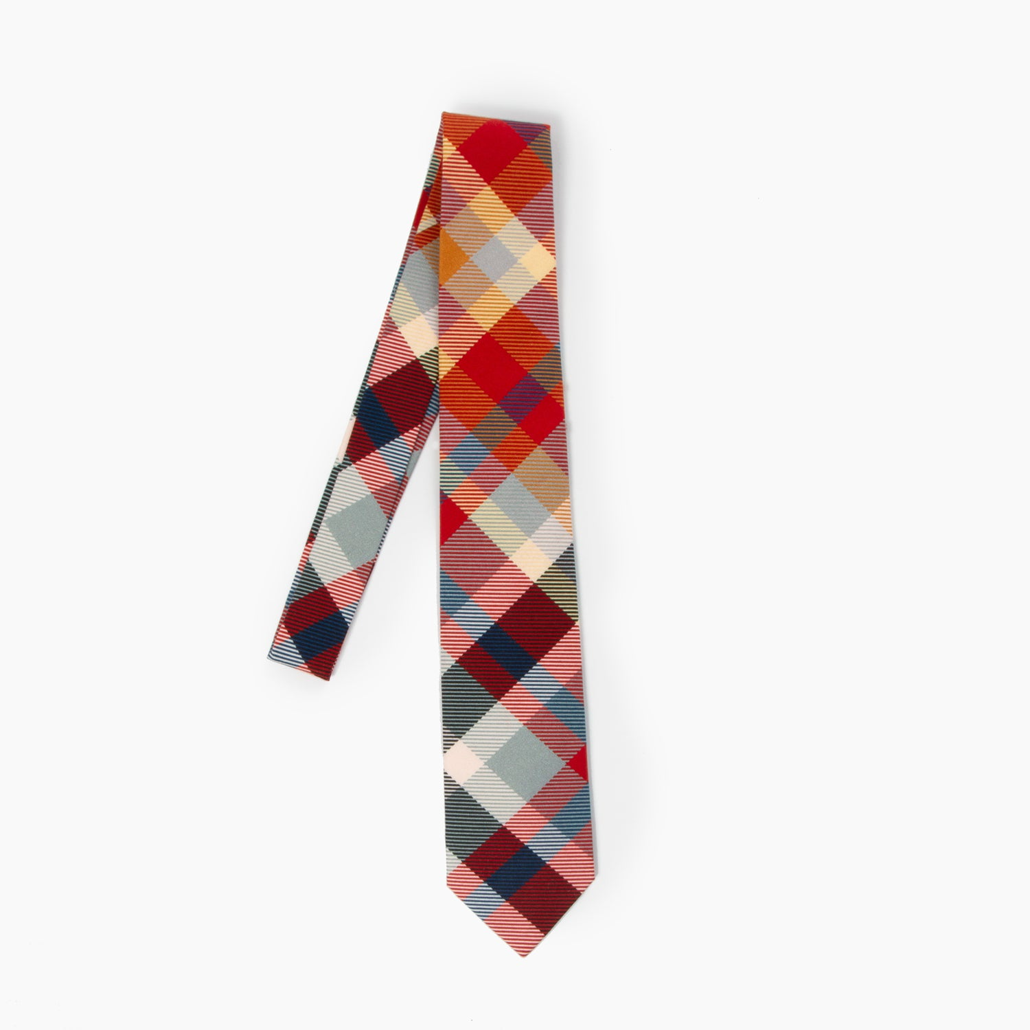 The Stand Plaid Self Tipped Tie