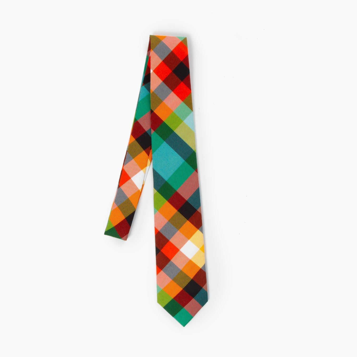 The Lorax Plaid Self Tipped Tie