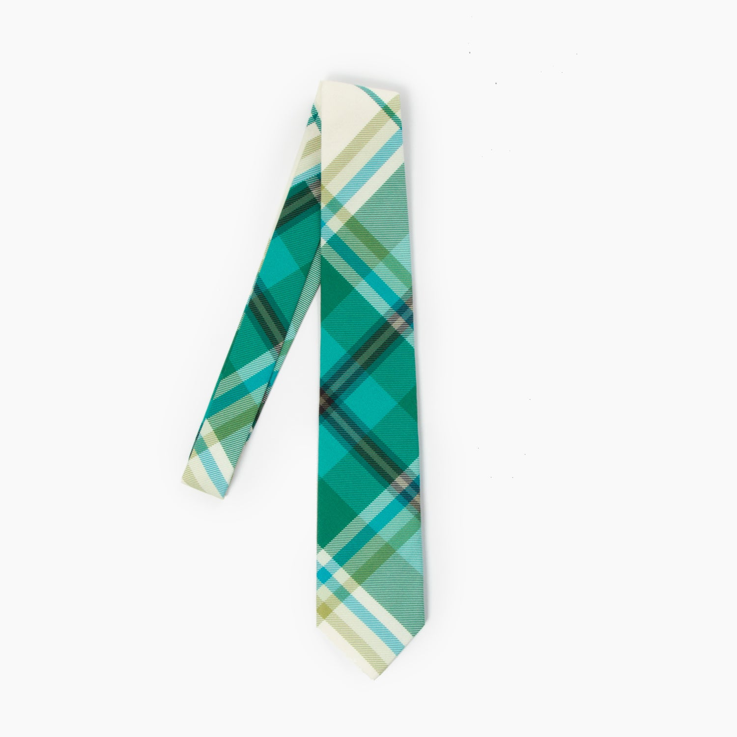 The Siddhartha Plaid Self Tipped Tie
