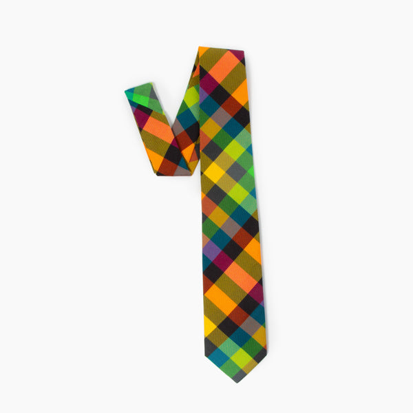 The 3 Feet High and Rising Plaid Self Tipped Tie