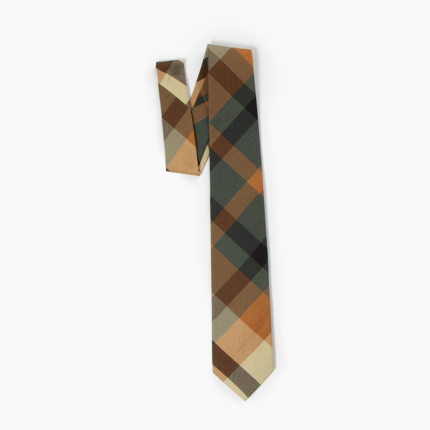 The UCP Delta Plaid Self Tipped Tie